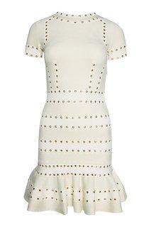 Трикотажное платье с люверсами Alexander Mc Queen