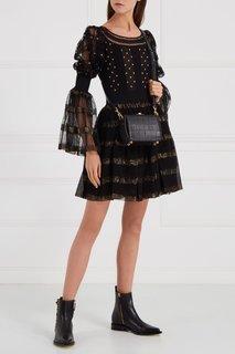Шелковое платье с люрексом Alexander Mc Queen