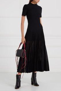 Шерстяное платье с плиссировкой Alexander Mc Queen