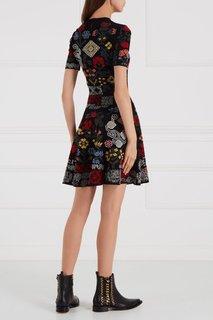 Платье с рустикальными узорами Alexander Mc Queen