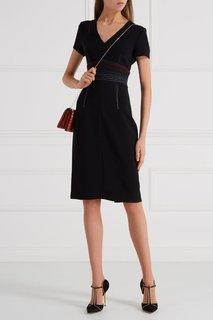 Платье-футляр с V-вырезом Diane von Furstenberg