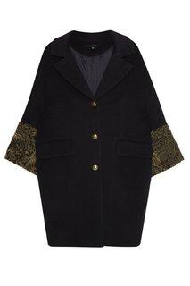 Пальто с манжетами из каракуля Victoria Andreyanova