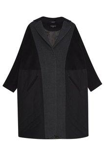 Комбинированное пальто из шерсти Victoria Andreyanova