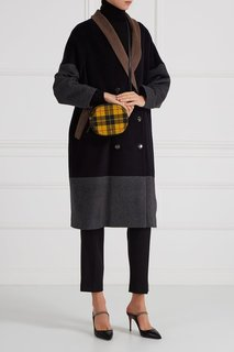 Шерстяное пальто color block Victoria Andreyanova