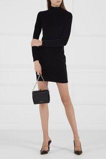 Черное бархатное платье T by Alexander Wang