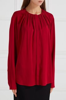 Блузка с драпировками Hugo Boss