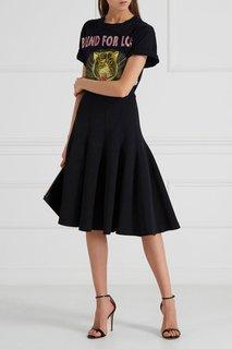 Расклешенная юбка из трикотажа Carven