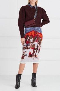 Вязаная юбка с рисунком Stella Jean