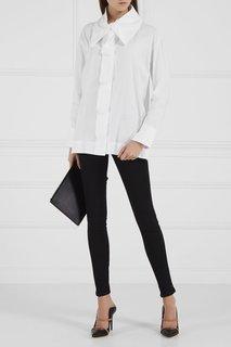 Хлопковая блузка с объемным воротником Vivienne Westwood Anglomania