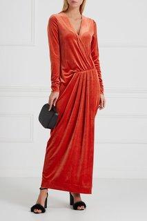 Бархатное платье с запахом By Malene Birger