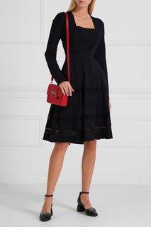 Платье с отделкой Carven