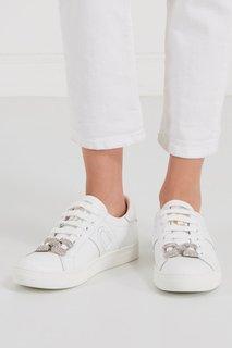 Кожаные кроссовки с декором Marc Jacobs