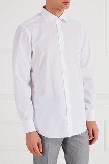 Белая хлопковая рубашка Cesare Attolini
