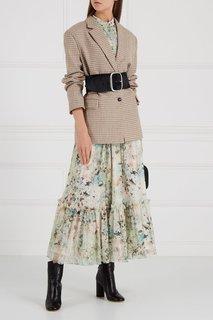 Платье-макси из шелка с принтом Loom Moscow