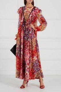 Шелковое платье-макси с цветочным принтом Loom Moscow