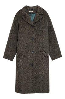 Утепленное пальто в елочку Loom Moscow