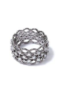 Широкое кольцо с кристаллами Herald Percy