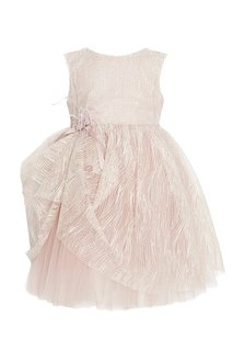 Бежевое платье с драпировкой Balloon and Butterfly