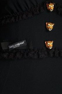 Платье с рюшами Dolce & Gabbana