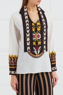 Шелковая блузка с отделкой Etro