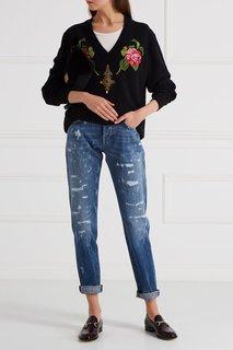 Кашемировый пуловер с аппликацией Dolce & Gabbana