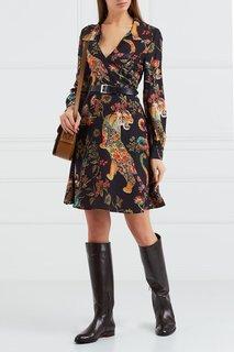 Шелковое платье с принтом Etro