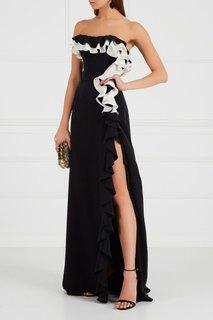 Шелковое платье с воланами Maison Bohemique
