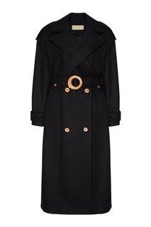 Черное пальто из шерсти и кашемира Ruban