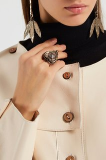 Кольцо-сердце из латуни Valentino