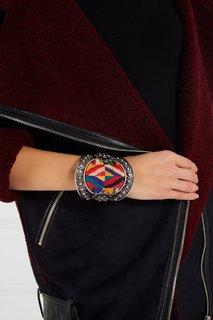 Широкий браслет с ярким декором Valentino