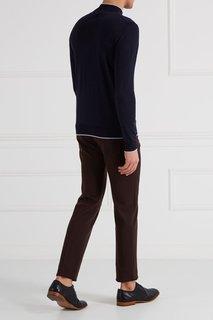 Синий свитер из шерсти и шелка Billionaire