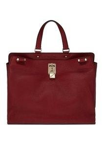 Бордовая сумка из кожи Valentino