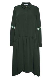 Платье с вышивкой на рукавах Iwaki Vivetta