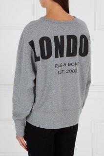 Хлопковый свитшот с принтом на спине Rag&Bone