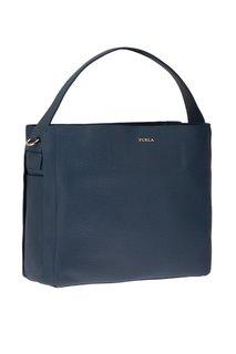 Синяя сумка-шопер Capriccio Furla