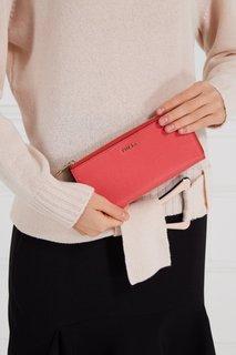 Кожаный кошелек кораллового цвета Babylon Furla