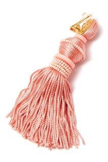 Розовые серьги-клипсы с кистями Oscar de la Renta