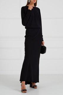 Черное платье с рукавами «летучая мышь» Alexander Terekhov