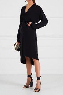 Черное платье-миди с поясом Alexander Terekhov