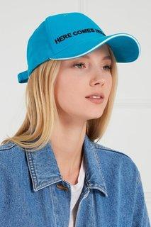 Голубая кепка с вышивкой Natasha Zinko