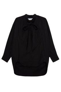 Хлопковая блузка с логотипом на спине Balenciaga