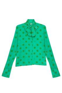 Шелковая блузка в горох Natasha Zinko