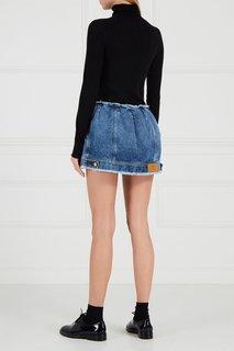 Джинсовая мини-юбка с пуговицами Natasha Zinko