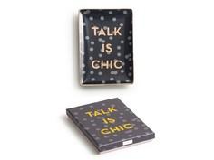 "Декоративный поднос ""Talk is chic"" Rosanna"
