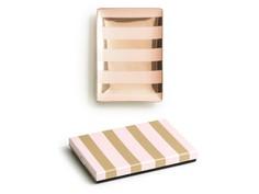 """Декоративный поднос """"Stripes"""" (pink/gold) Rosanna"""