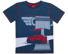 Футболка с коротким рукавом для мальчика Cars, темно - синяя
