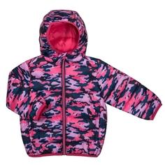 Куртка для девочки Barkito, розовая с рисунком «камуфляж»
