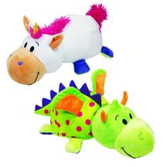 Мягкая игрушка 1Toy «Вывернушка. Единорог-Дракон» 40 см