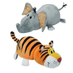 Мягкая игрушка 1Toy «Вывернушка. Слон-Тигр» 40 см