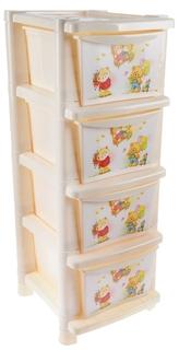 Комод Little Angel «Bears» 4 ящика в ассортименте
